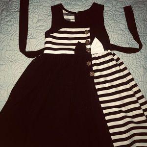 Navy blue sailor dress. 4T
